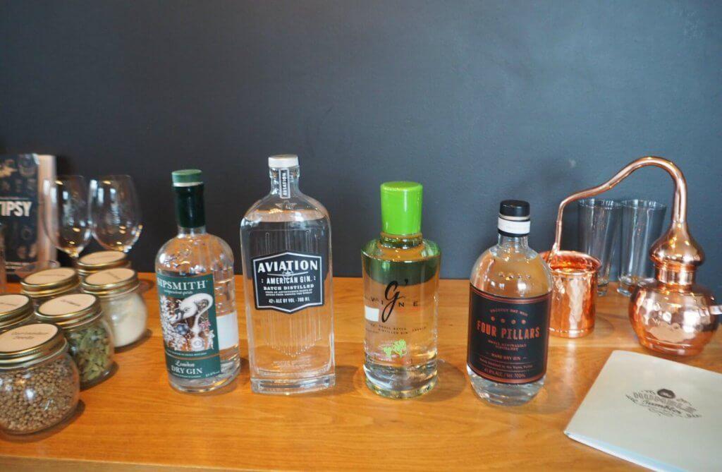corporate gin tasting